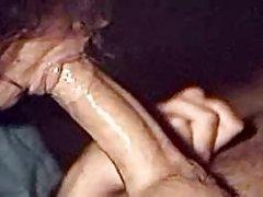 Гламурная бабушка в чулках любит анал